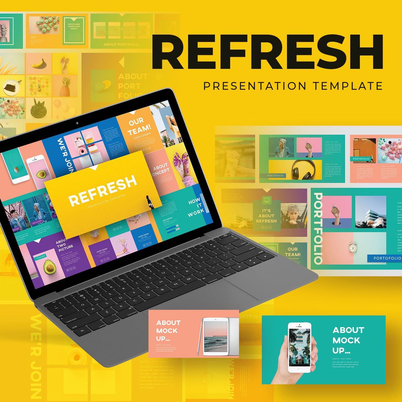 Refresh Googleslide Template main cover.