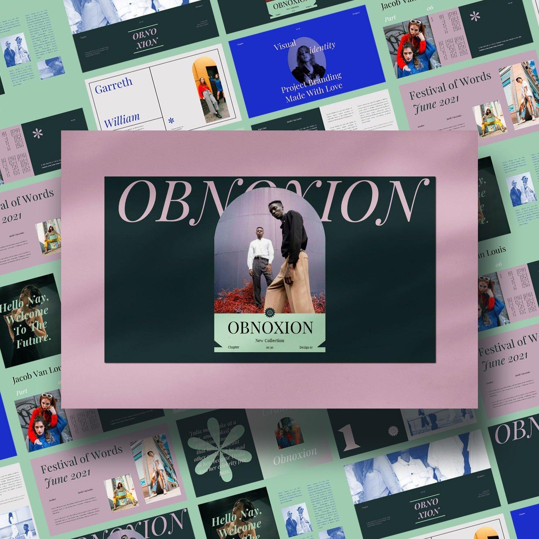 OBNOXION Keynote Template main cover.