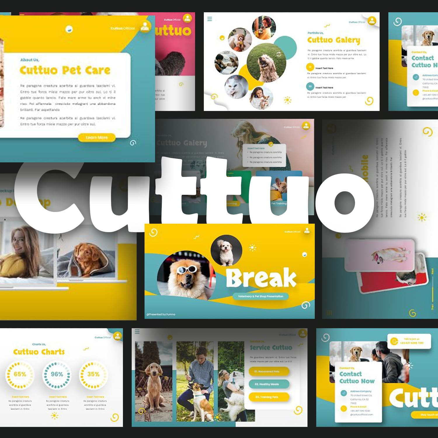 Cuttuo - Pets Care Keynote main cover.