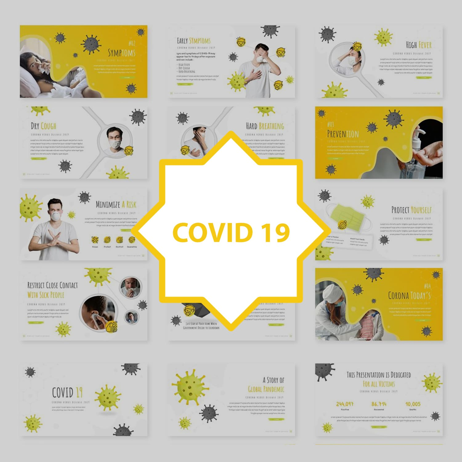 Covid 19 - Powerpoint Template main cover.
