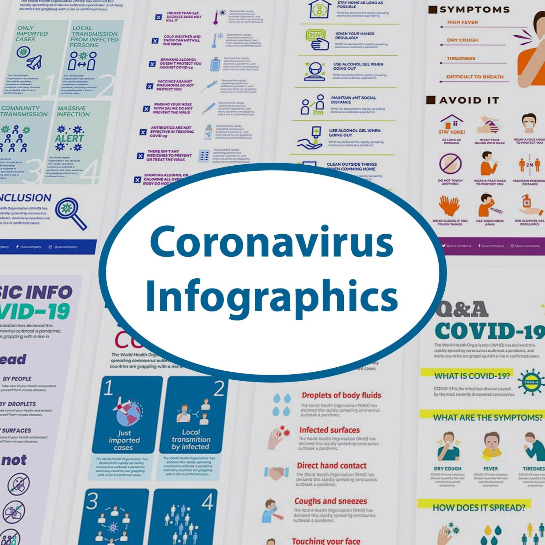 Coronavirus Infographics Bundle 11 main cover.