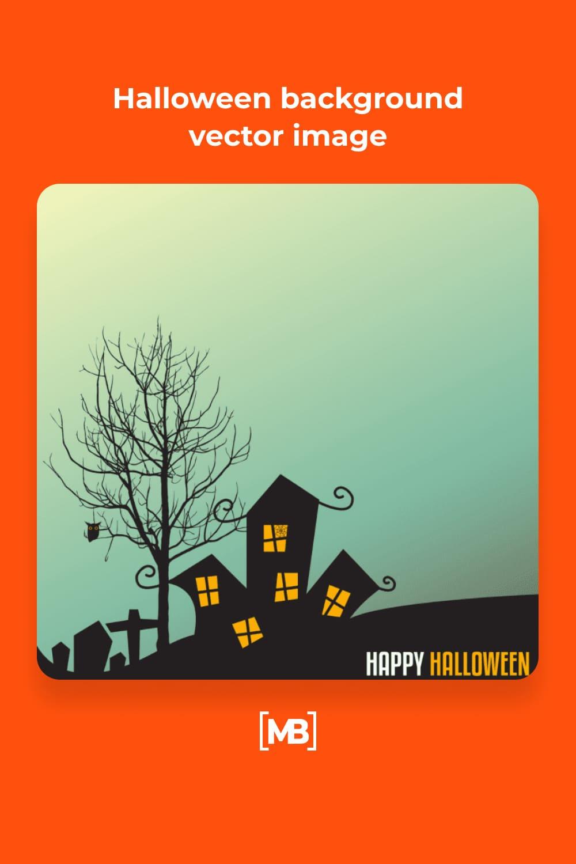 16 Halloween background vector image