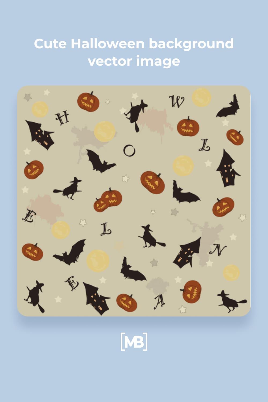 17 Cute Halloween background vector image