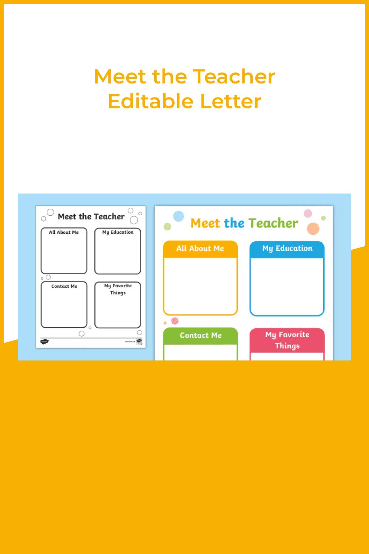 Meet the teacher editable letter.