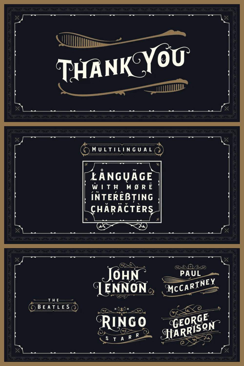 Craft font in retro style.