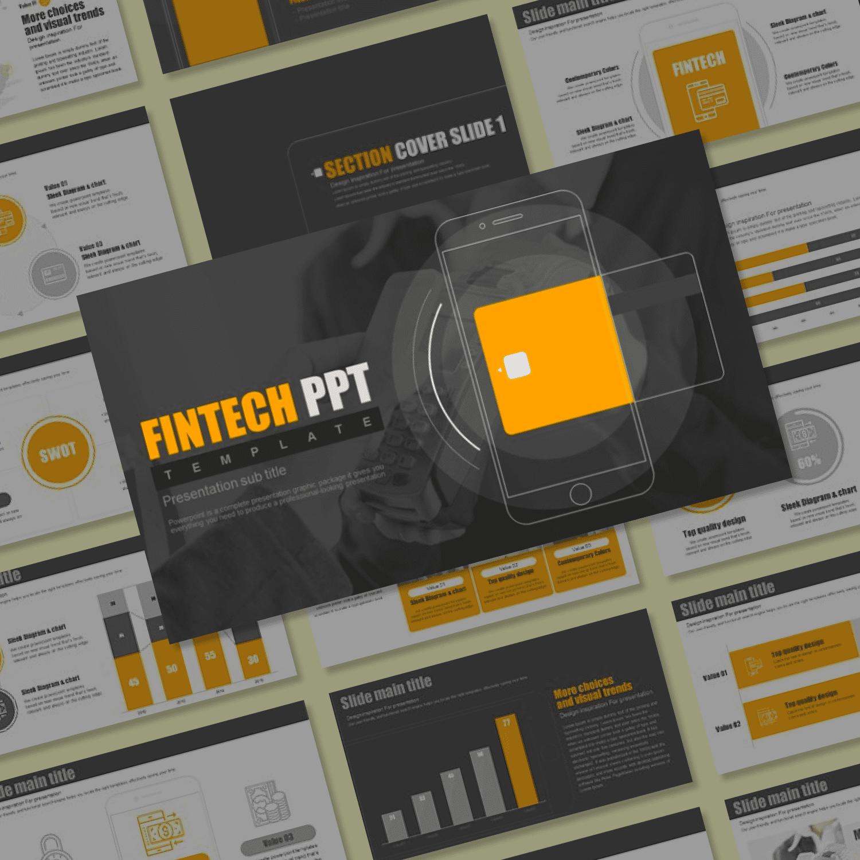 Fintech PPT main cover.
