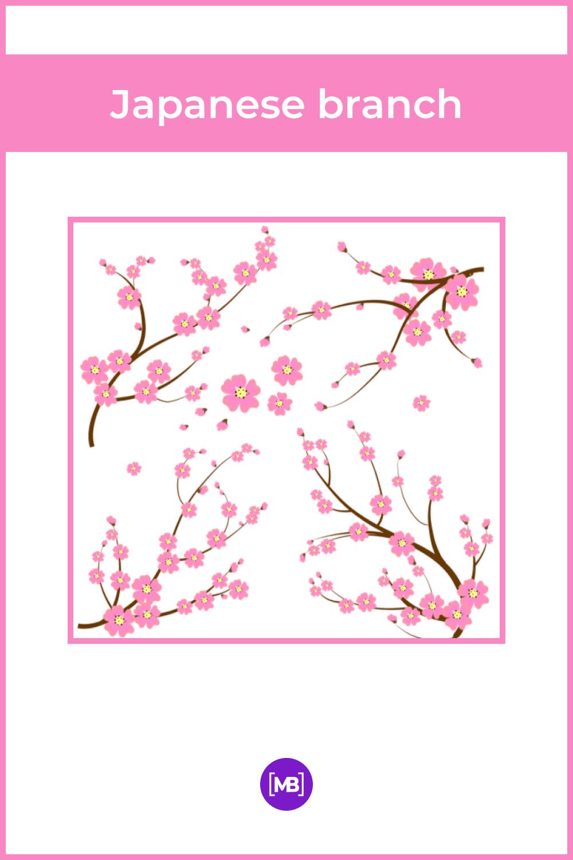 Pink japanese branch.