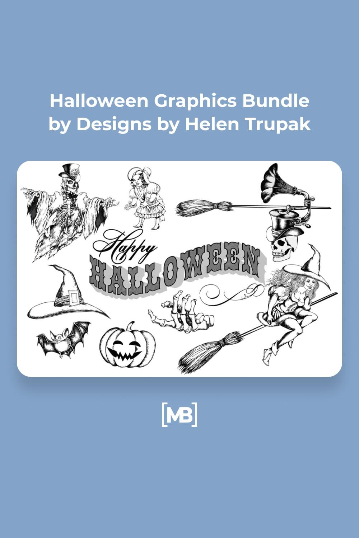 20 Halloween Graphics Bundle by Designs by Helen Trupak