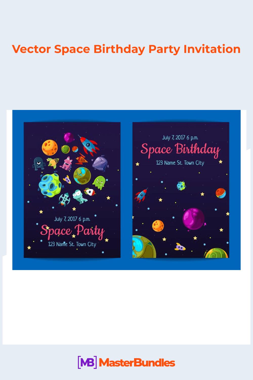 Vector space birthday party invitation.