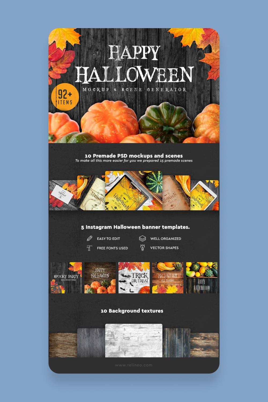 29 Halloween Scene and Mockup Creator.