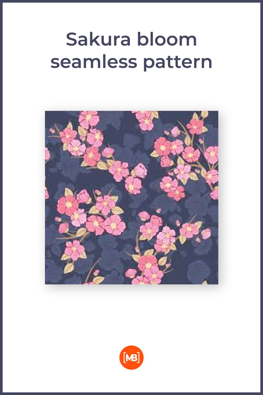 Sakura bloom seamless pattern.