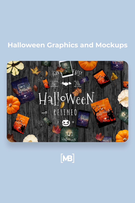 30 Halloween Graphics and Mockups.