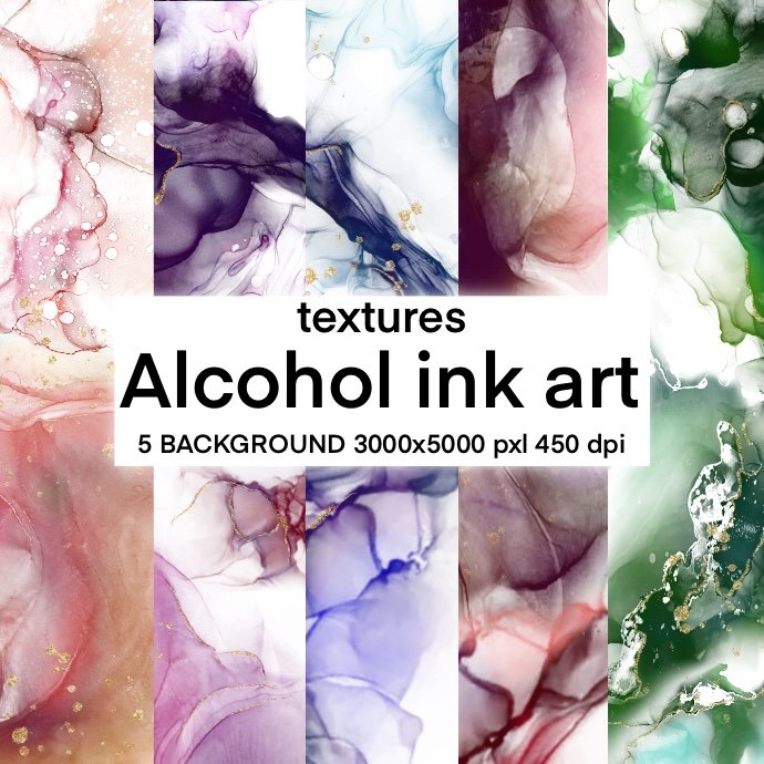 Textures Alcohol Ink Art cover image.