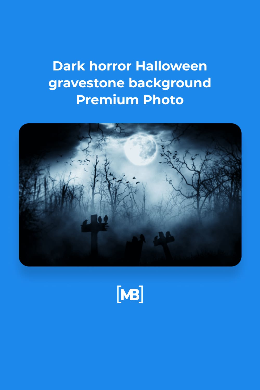 4 Dark horror Halloween gravestone background Premium Photo