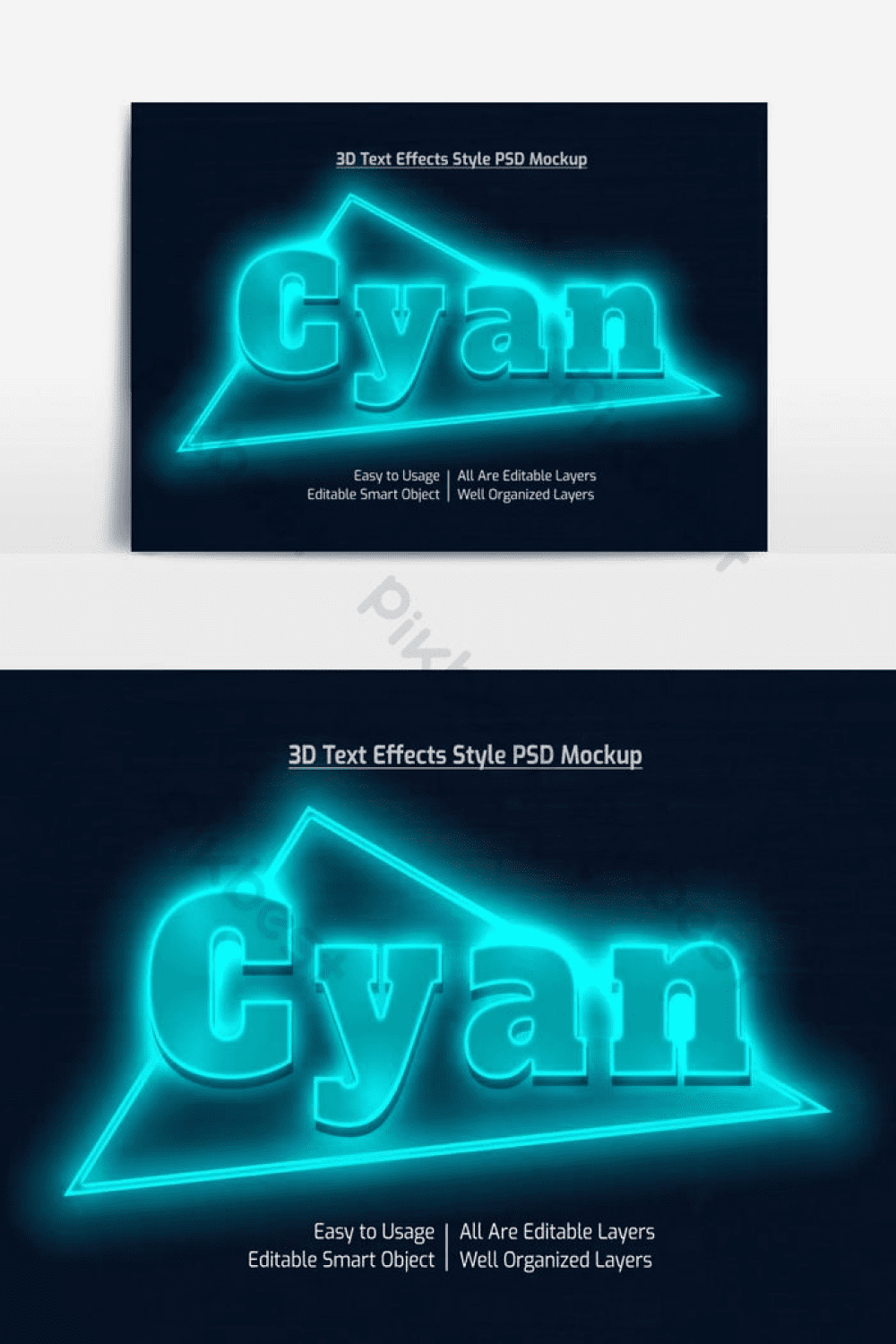 Cool neon composition in turquoise color.