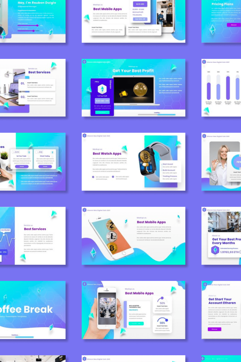 It's a big and colorful template for a real business.