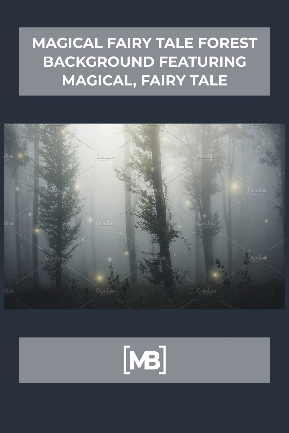 6 Magical fairy tale forest background featuring magical fairy tale