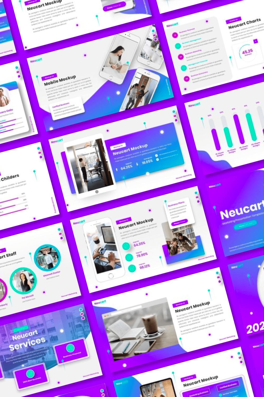 Purple will make your presentation more fashionable.