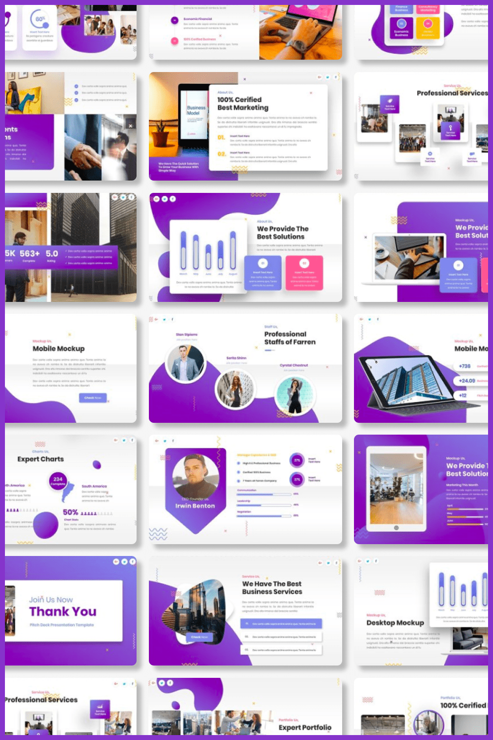 It's a big and vivid template for a real business.
