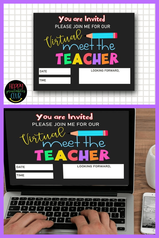 Meet the teacher invite template - back to school.
