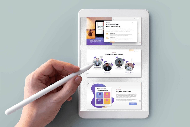 Tablet option of the Farren Pitch Deck Googleslid.