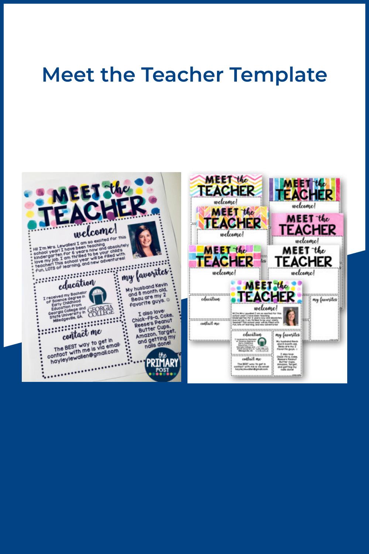 Meet the teacher template.
