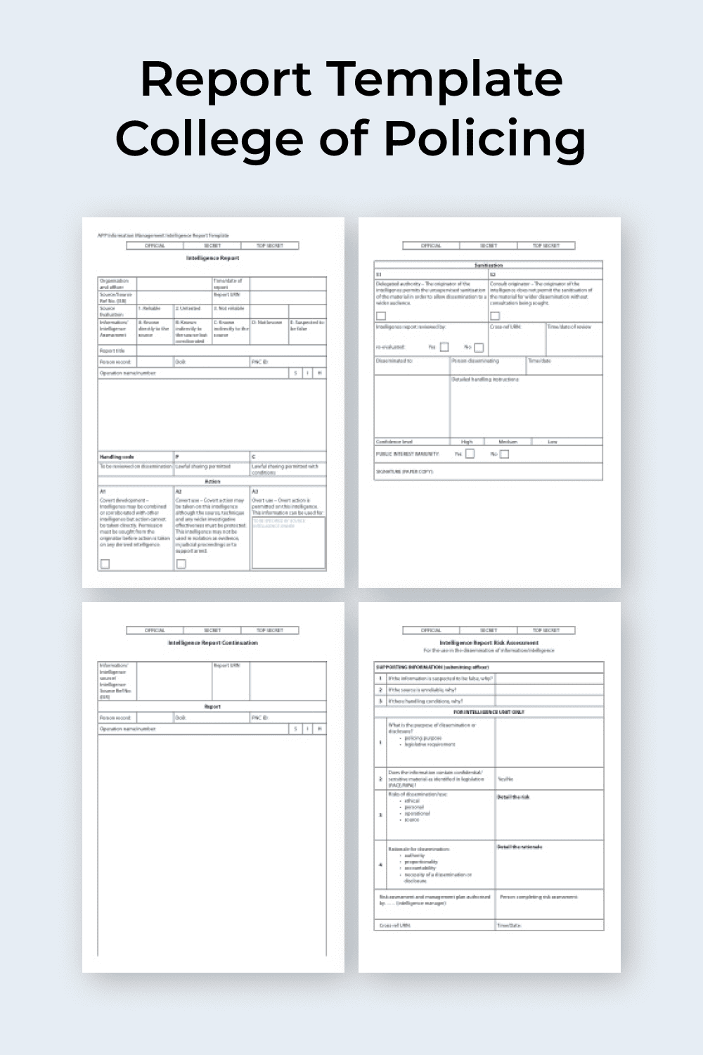Report Template College of Policing.