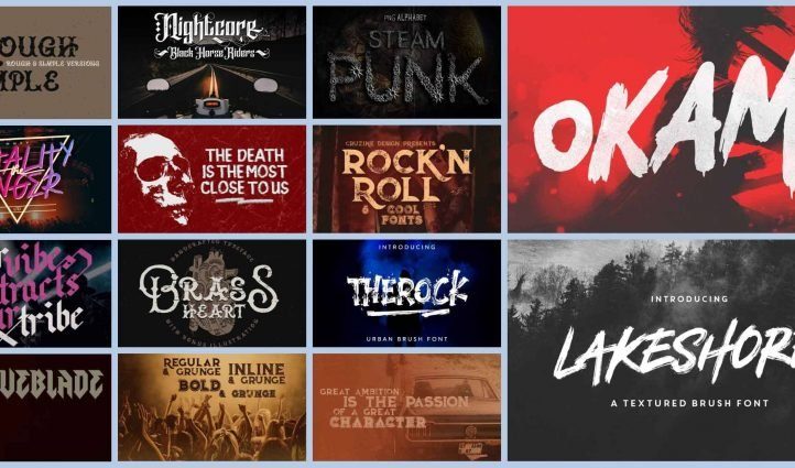 Rock and Roll Fonts Example.