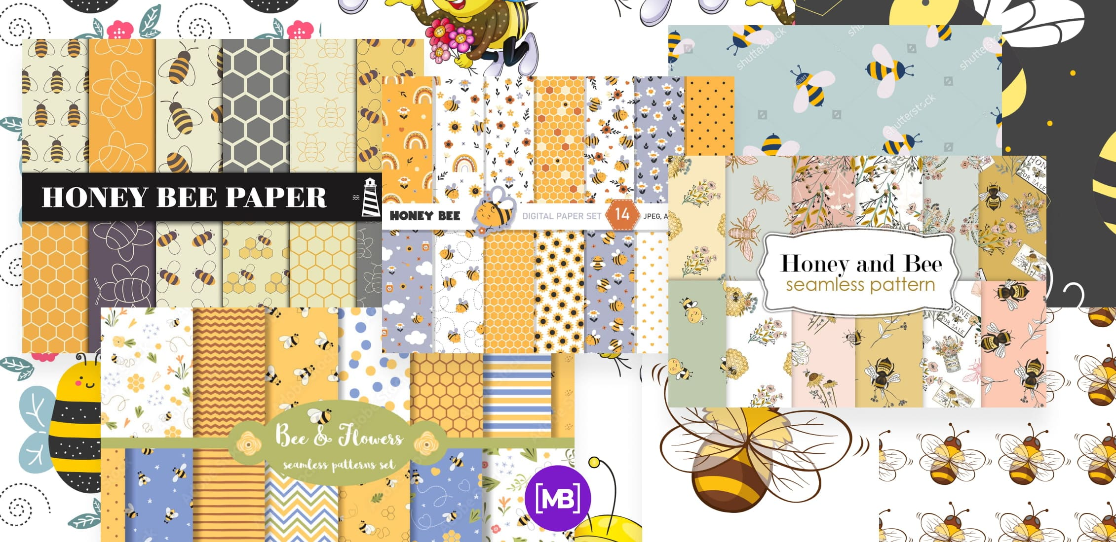 Bee Pattern Images Example.