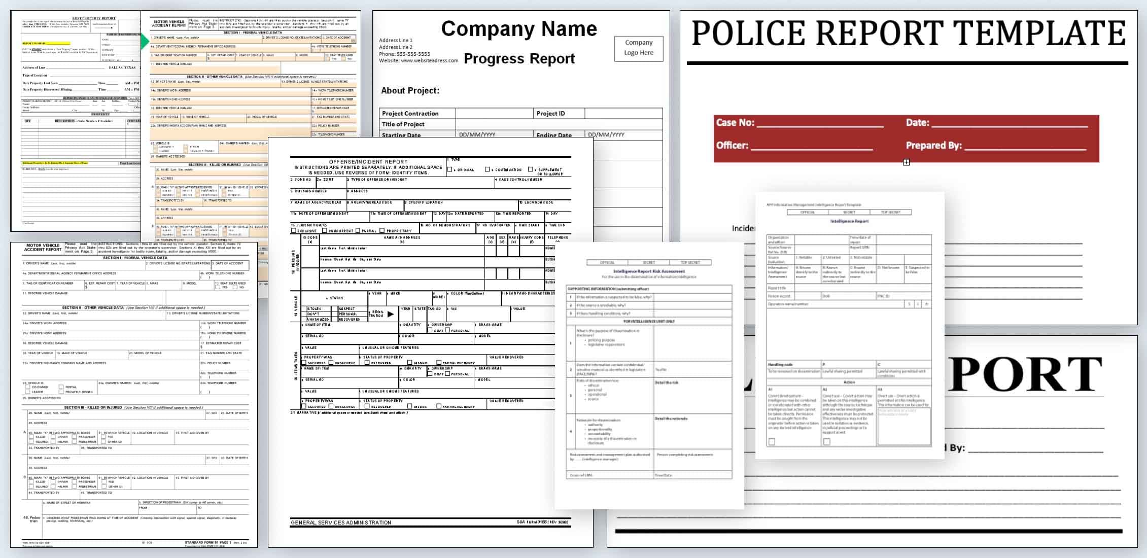 Best Police Report Templates Example.