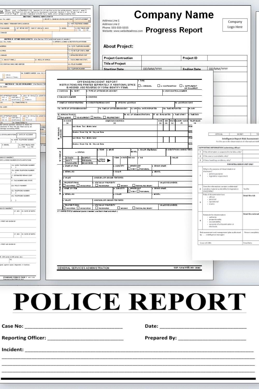 Police Report Templates Pinterest.