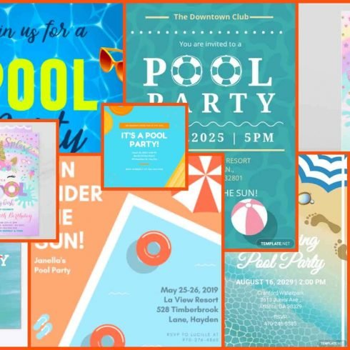 Best Pool Party Invitations Example.