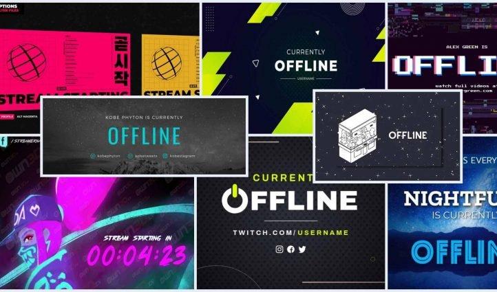Best Twitch Offline Banner Templates Example.