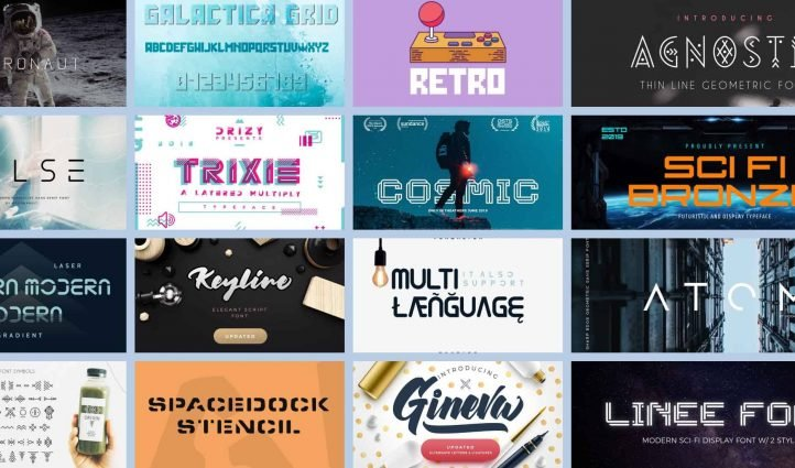 Sci fi Fonts in 2021 Example.