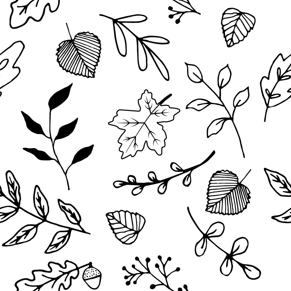 autumn leaves pattern preview.