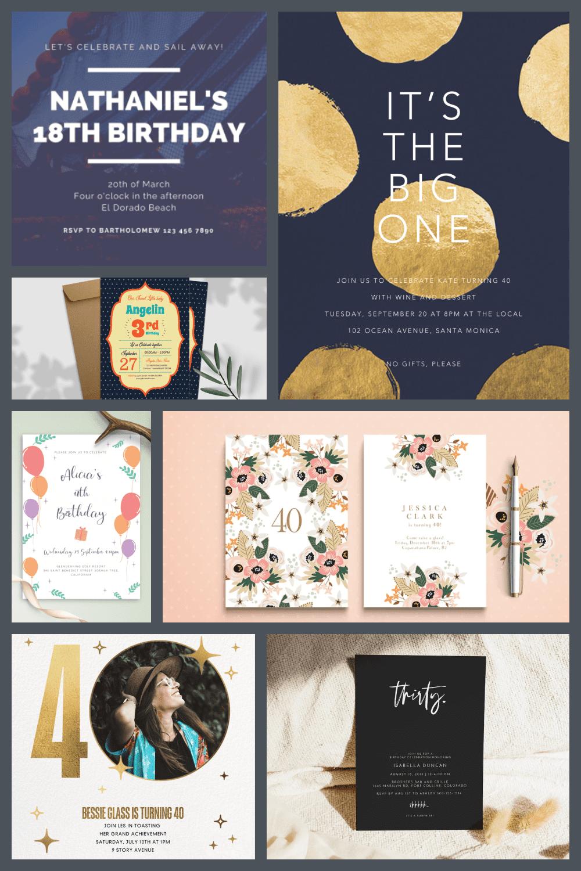 Birthday Invitation Template Pinterest.