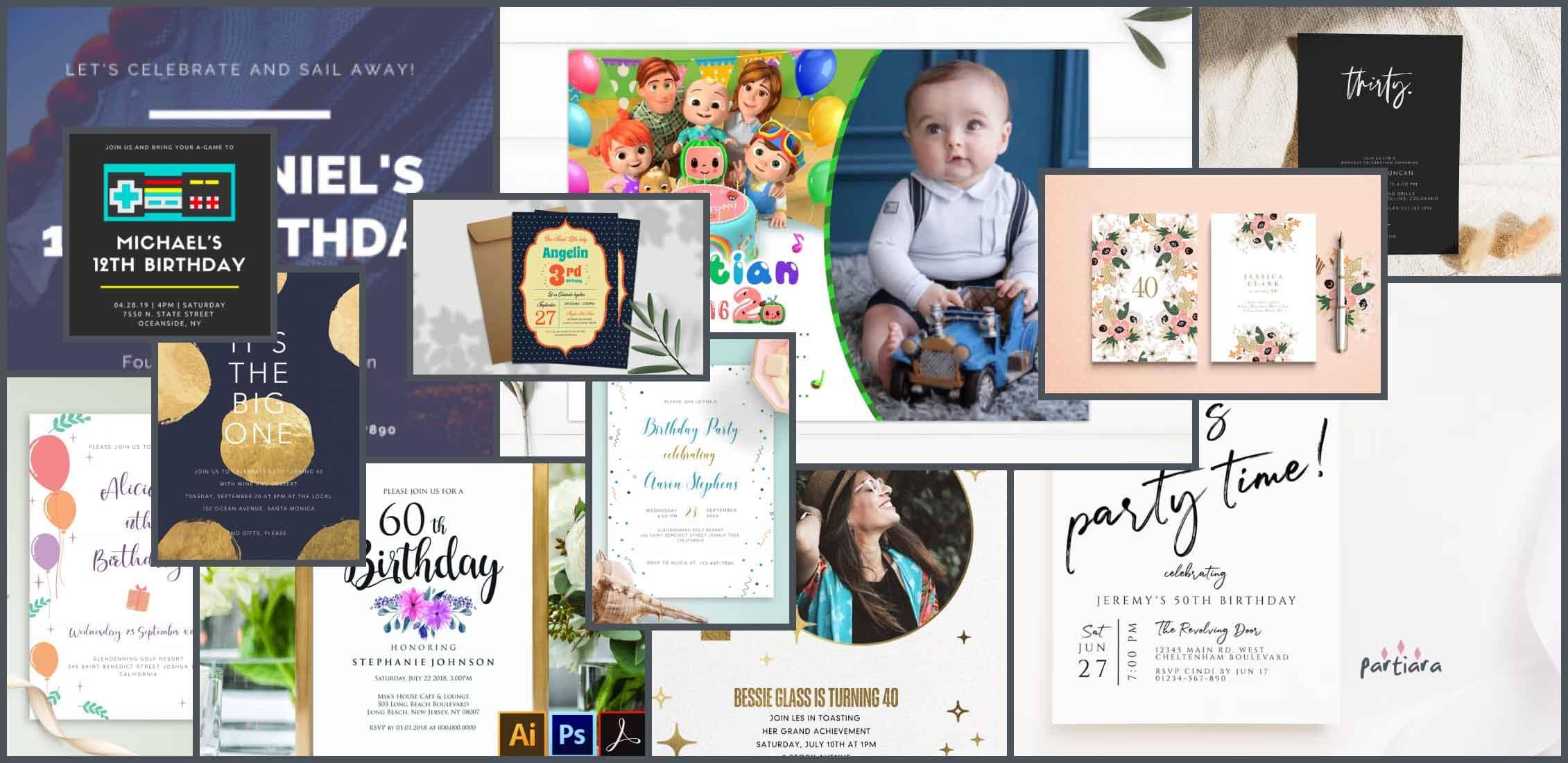 birthday invitation templates Example.