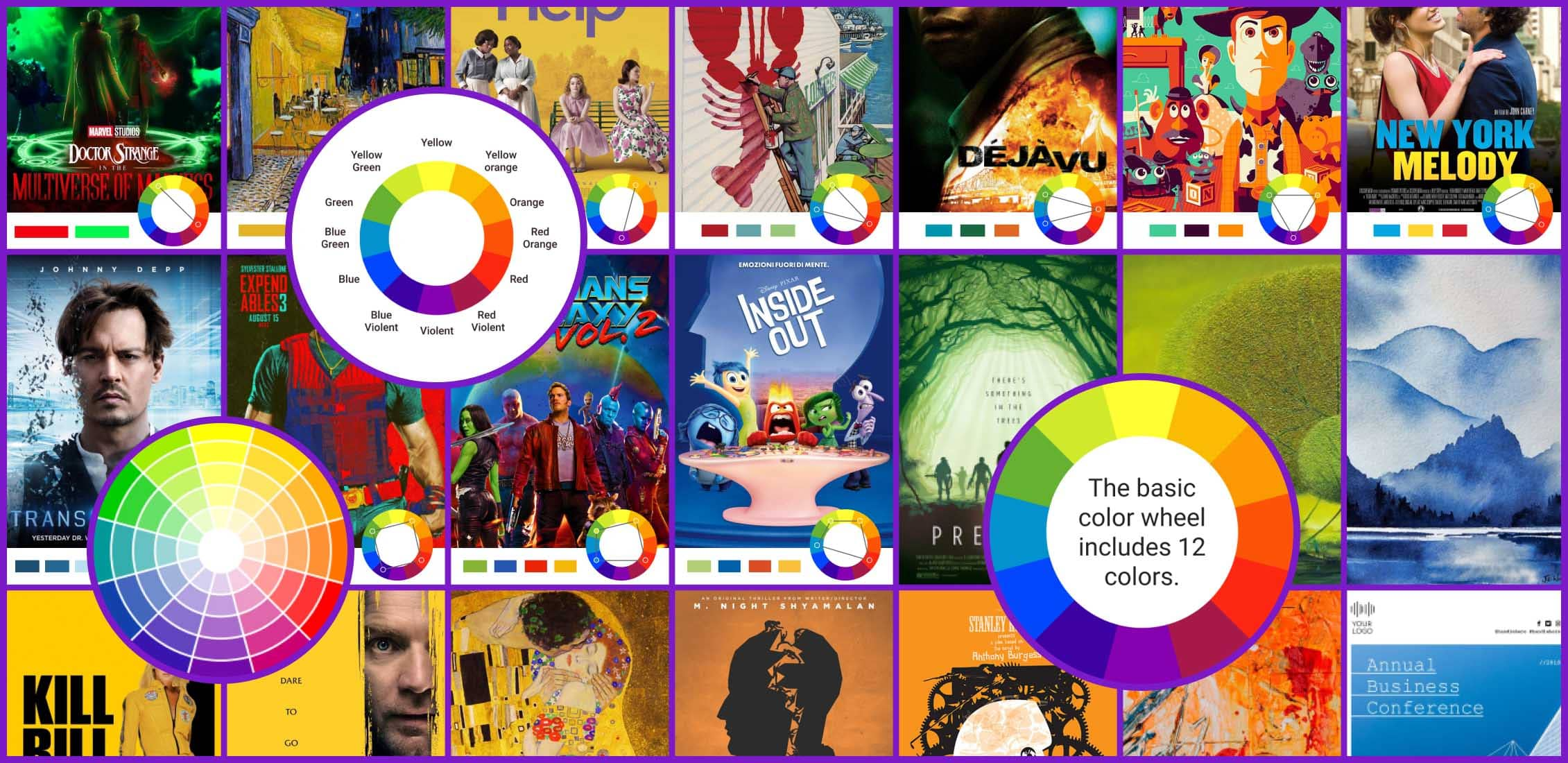 Color Theory in Graphic Design Example.