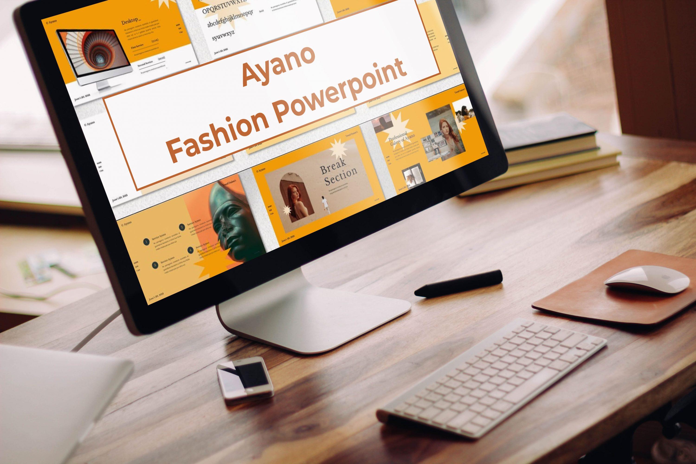 Desktop option of the Ayano - Fashion Powerpoint.