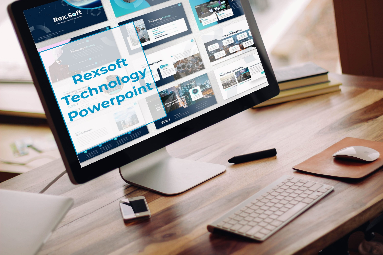 Desktop option of the Rexsoft - Technology Powerpoint.
