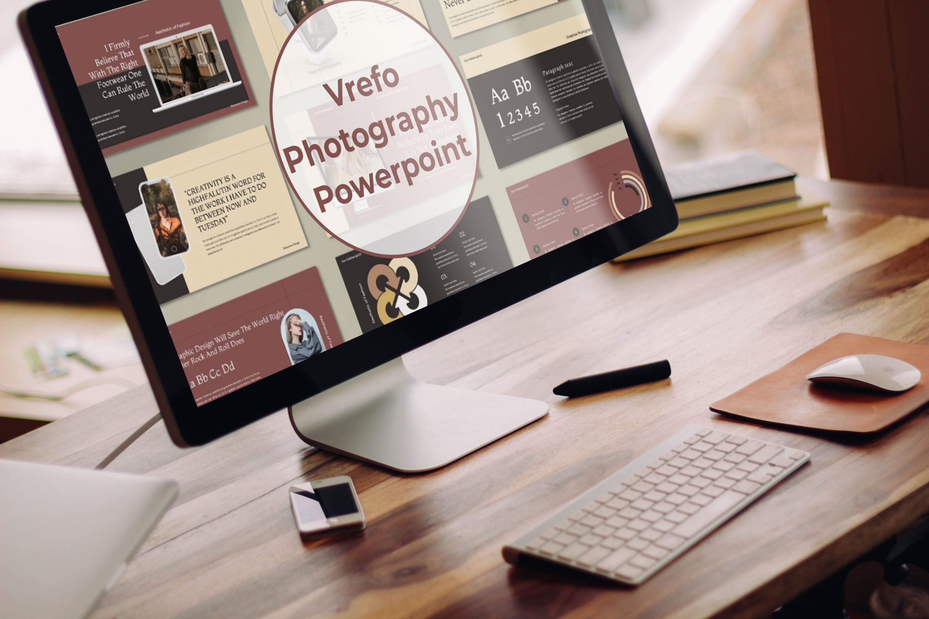 Desktop option of the Vrefo - Photography Powerpoint.