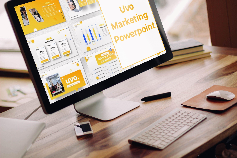 Desktop option of the Uvo - Marketing Powerpoint.