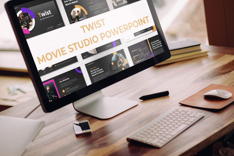Desktop option of the Twist - Movie Studio Powerpoint.