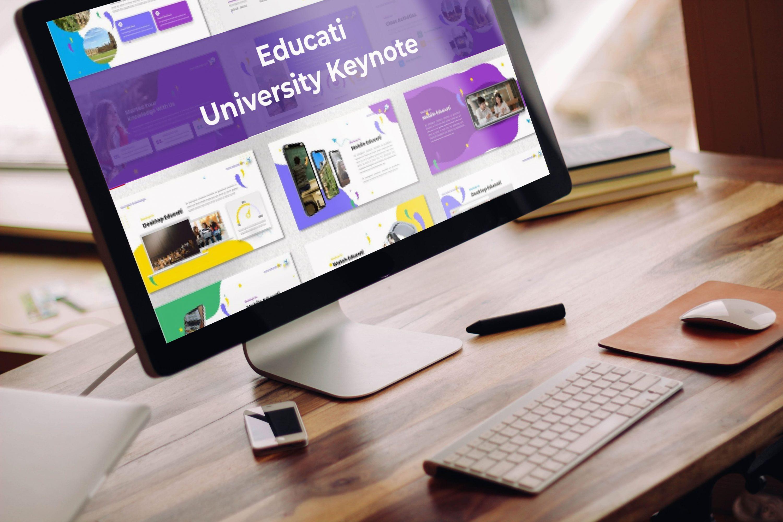 Desktop option of the Educati - University Keynote.