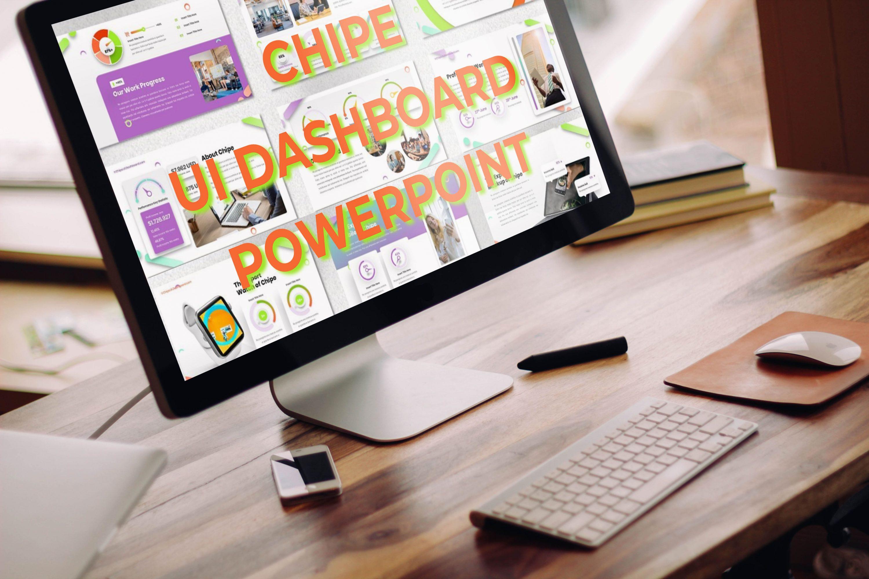 Desktop option of the Chipe - UI Dashboard Powerpoint.