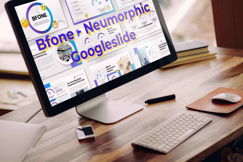 Desktop option of the Bfone - Neumorphic Googleslide.