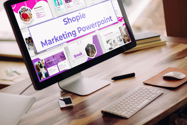 Desktop option of the Shopie - Marketing Powerpoint.