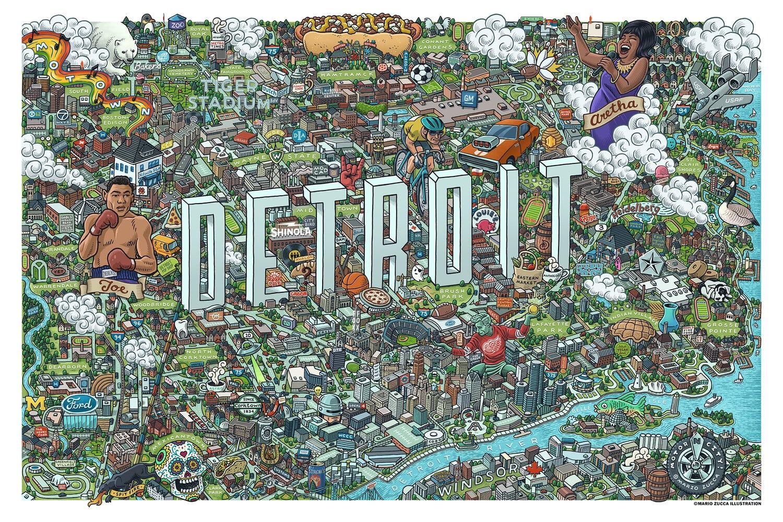 Detroit map.