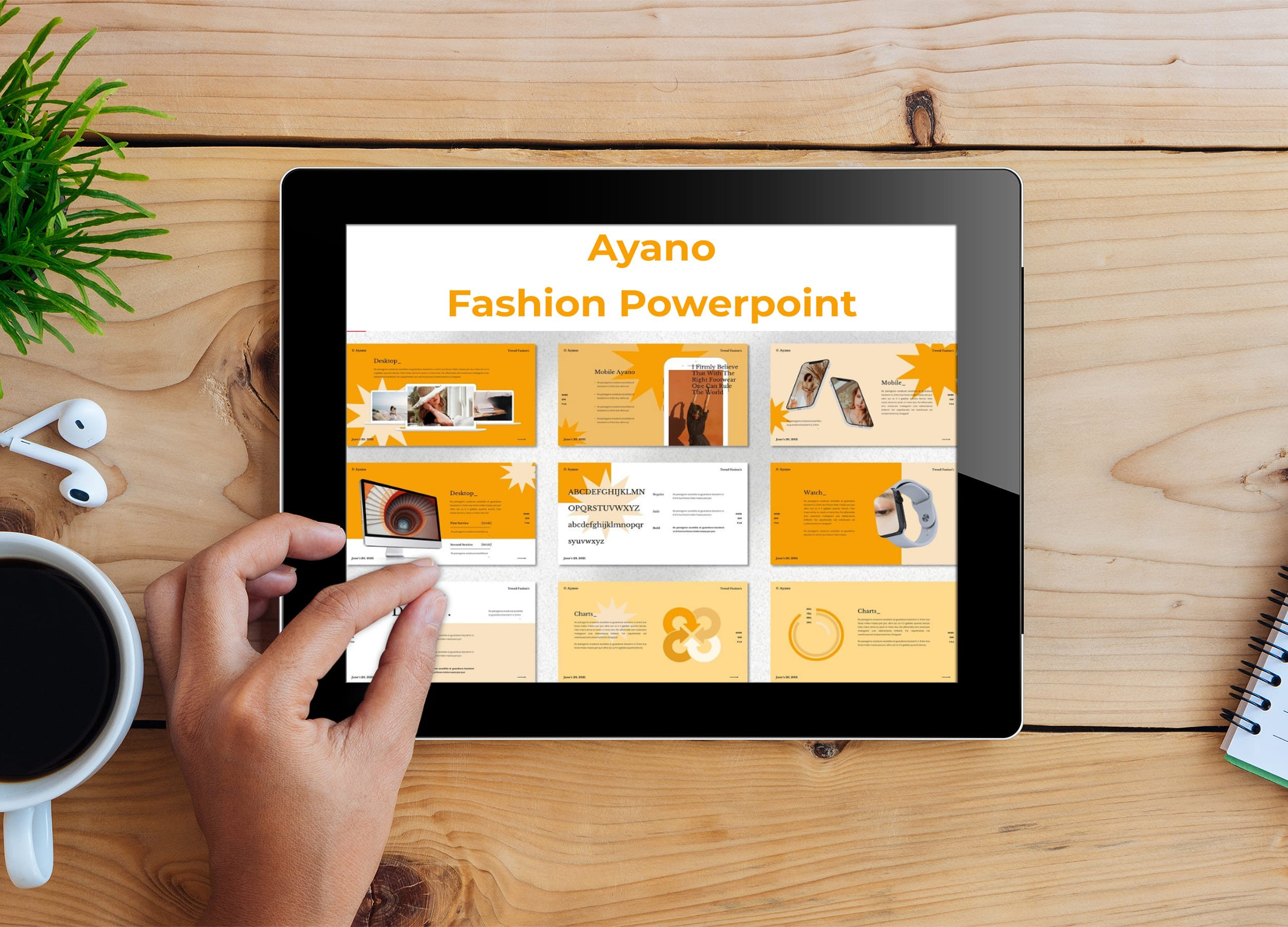 Tablet option of the Ayano - Fashion Powerpoint.