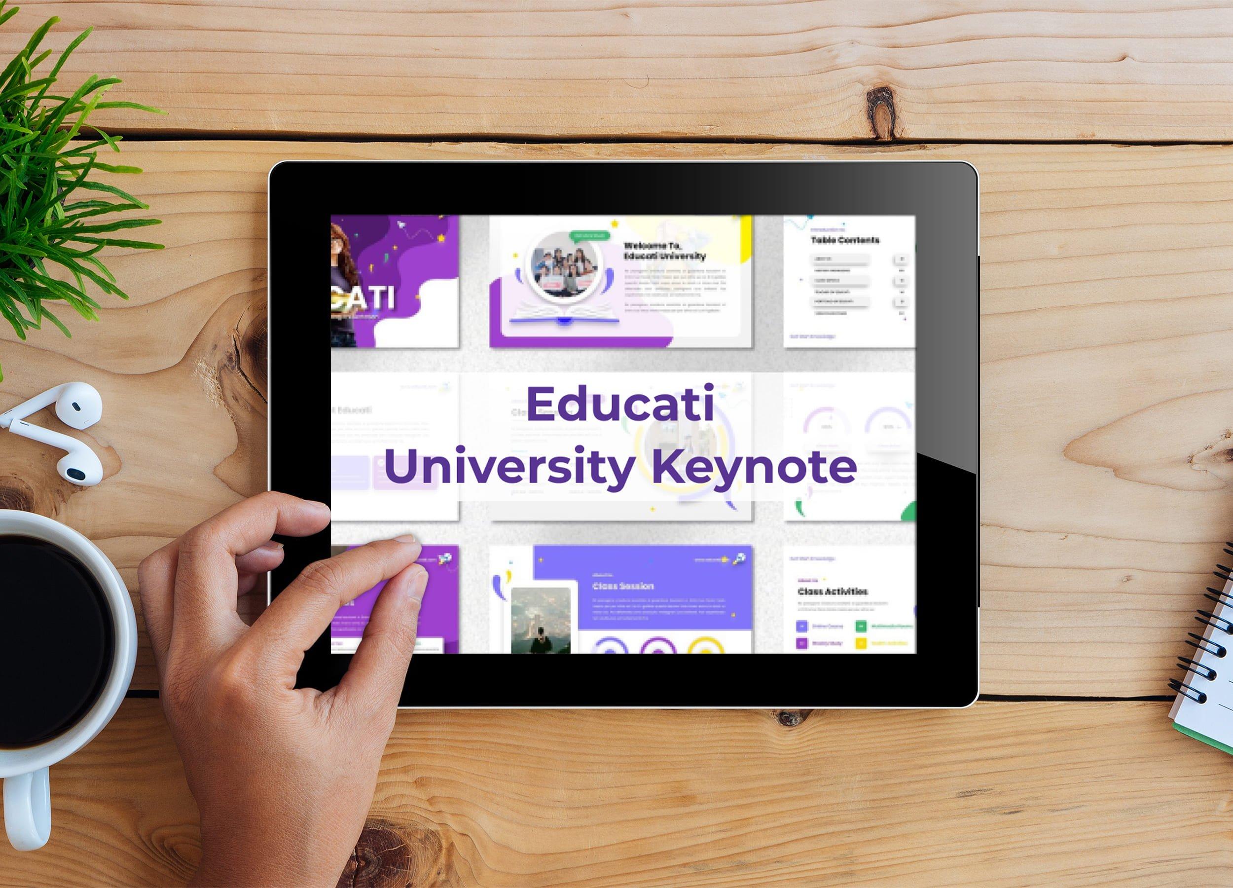 Tablet option of the Educati - University Keynote.